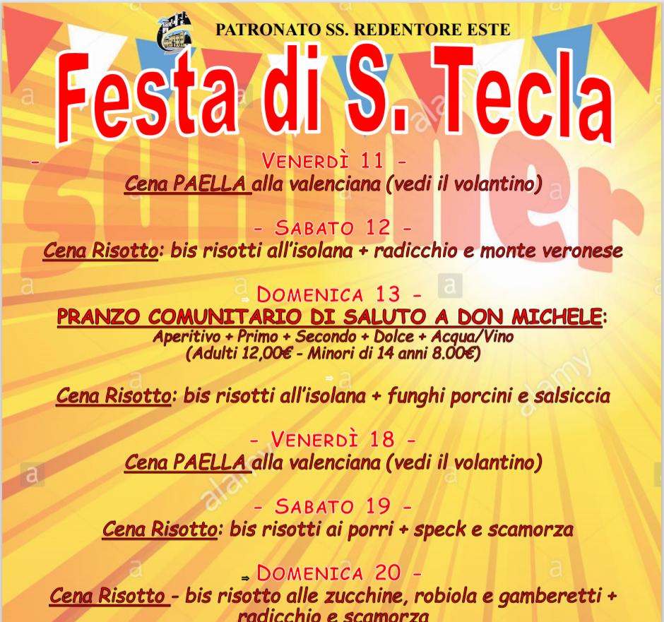 Festa di Santa Tecla Este
